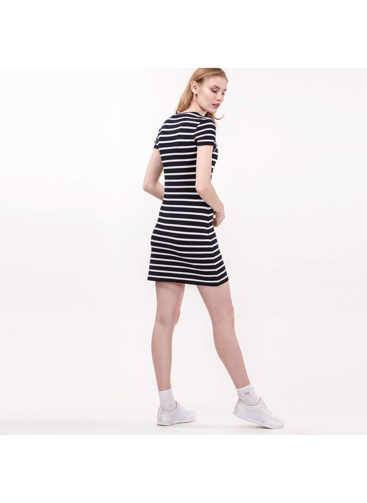 4595eb970509b Lacoste Kadın Kısa Kollu Çizgili Mini Elbise Renkli | Morhipo | 21006055